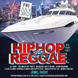 Image for NYC July 4th Weekend Hip Hop vs Reggae® Yacht Party at Skyport Marina 2020