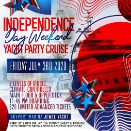 Image for NYC Independence Day Weekend Yacht Party Cruise at Skyport Marina 2020