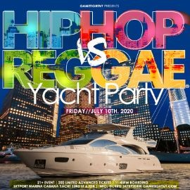 Image for Manhattan Hip Hop vs. Reggae® Midnight Yacht Party at Skyport Marina Cabana 2020