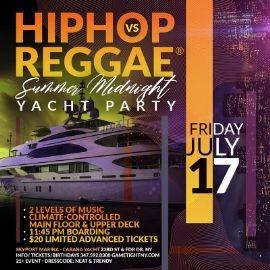 Image for New York Hip Hop vs. Reggae® Summer Midnight Yacht Party at Skyport Marina Cabana