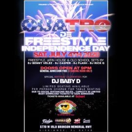 Image for Cuatro De Freestyle - Independence Day Party