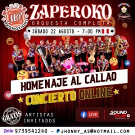 Image for Zaperoko en Concierto Virtual Gratis!