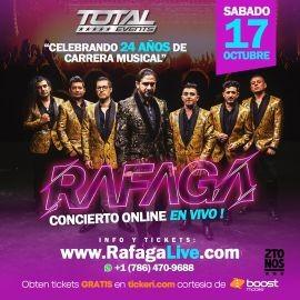 Image for Rafaga en Concierto Virtual en Vivo!!