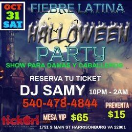 Image for HALLOWEEN PARTY CON FIEBRE LATINA Y DJ SAMY