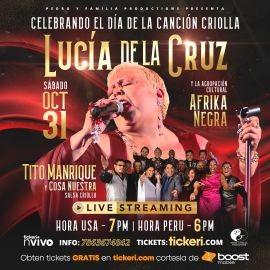Image for BOOST MOBILE TE REGALA! Celebrando el Dia de la Cancion Criolla: Lucia de La Cruz & Afrika Negra, Tito Manrique y Cosa Nuestra en Concierto Virtual en Vivo!