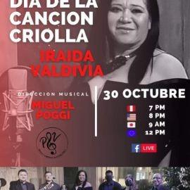 Image for Dia de La Cancion Criolla con Iraida Valdivia en Concierto Virtual Gratuito en Vivo!
