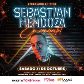 Image for Sebastian Mendoza en Concierto Virtual en Vivo!