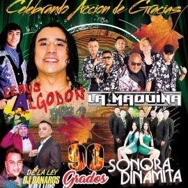 Image for Celebrando Accion de Gracias llegan Lemus y su Grupo Algodon, La Maquina y La Sonora Dinamita en Vivo! POSTPONED