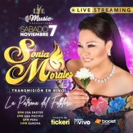 Image for Feliz 26 Aniversario de Sonia Morales, Concierto Virtual en Vivo!