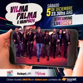 Image for Boost Mobile te regala: Vilma Palma e Vampiros en Concierto Virtual en Vivo!