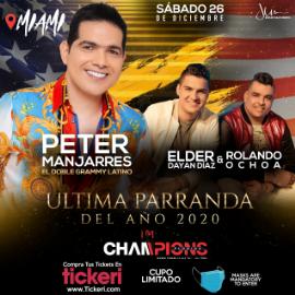 Image for Peter Manjarres, Elder Dayan Diaz & Rolando Ochoa en la Ultima Parranda del 2020!