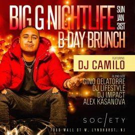 Image for Big G Nightlife Birthday Brunch DJ Camilo Live At Society