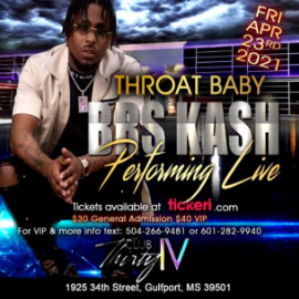 Image for Throat Baby BRS Kash Performing Live!
