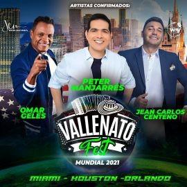 Image for Vallenato Fest 2021 con Omar Geles, Peter Manjarres, Jean Carlos Centeno en Orlando!