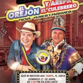 Image for El Orejon y Arepa El Culebrero Trova, Humor y Parranda en Vivo!
