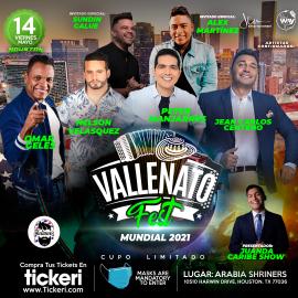 Image for Vallenato Fest USA 2021 - Houston! con Peter Manjarres, Jean Carlos Centeno, Omar Geles, Nelson Velásquez