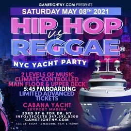 Image for Hip Hop vs Reggae® NYC Sunset Cruise Skyport Marina Cabana Yacht