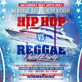 Image for NYC MDW Hip Hop vs Reggae® Sunset Cruise Skyport Marina Cabana Yacht
