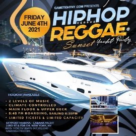 Image for NYC Summer Hip Hop vs Reggae® Sunset Cruise Skyport Marina Cabana Yacht 2021