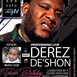 Image for Taurus Birthday Celebration with Derek DeShon live
