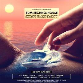 Image for EDM Sunday Sunset Yacht Party Cruise at Skyport Marina Cabana Yacht 2021
