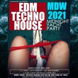 Image for MDW EDM Midnight Yacht Party Sunday Funday Cruise Skyport Marina Jewel Yacht