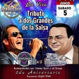 Image for Tributo a dos grandes de la Salsa en Vivo: A otro Nivel vs Yo Me Llamo junto a Jimmy Gale y Su Grupo!