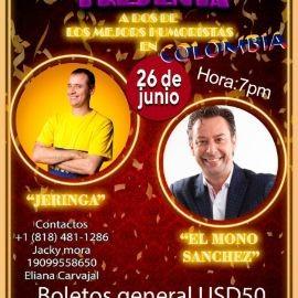 """Image for Humor desde Colombia con """"Jeringa y El Mono Sanchez"""" en Vivo!"""
