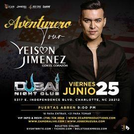 "Image for YEISON JIMÉNEZ ""AVENTURERO TOUR"" CHARLOTTE, NC"