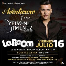 """Image for YEISON JIMÉNEZ """"AVENTURERO TOUR"""" NEW YORK"""