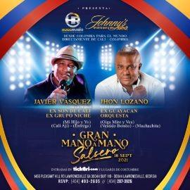 Image for Javier Vasquez Ex Grupo niche Jhon Lozano Ex Guayacan  en Gran Mano a Mano Salsero!
