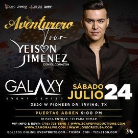 """Image for YEISON JIMÉNEZ """"AVENTURERO TOUR"""" DALLAS"""