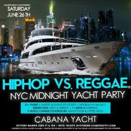 Image for NYC Hip Hop vs Reggae® Midnight Cruise Skyport Marina Cabana Yacht