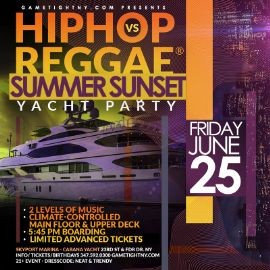 Image for NYC Hip Hop vs Reggae® Yacht Party Siteseeing Sunset Cruise Skyport Marina Cabana Yacht 2021