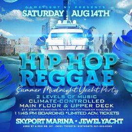 Image for Manhattan Hip Hop vs Reggae® Midnight Summer Cruise Skyport Marina Jewel