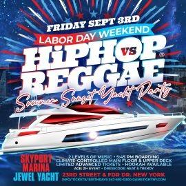 Image for NYC LDW Summer Sunset Hip Hop vs Reggae® Cruise Skyport Marina Jewel Yacht