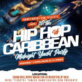 Image for NYC Carribean vs Hip Hop Midnight Summer Cruise Skyport Marina Cabana