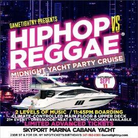 Image for NYC Hip Hop vs Reggae® Saturday Midnight Cruise Skyport Marina Cabana