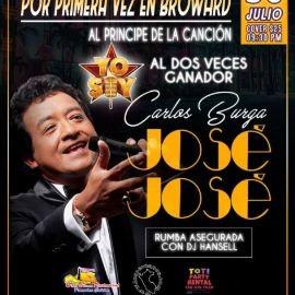 Image for CARLOS BURGA  POR PRIMERA VEZ EN BROWARD, DOS VECES GANADOR, YO SOY JOSE JOSE, EL PRINICPE DE LA CANCION EN HOLLYWOOD FLORIDA