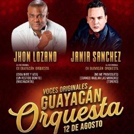 Image for JHON LOZANO, JANIR SANCHEZ, VOCES ORIGINALES GUAYACAN ORQUESTA EN CONCIERTO ! NORCROSS GEORGIA