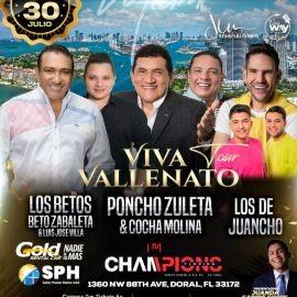 """Image for """"VIVA VALLENATO TOUR"""" MIAMI - BETO ZABALETA & LUIS JOSE VILLA """"LOS BETOS"""", PONCHO ZULETA & COCHA MOLINA, LOS DE JUANCHO"""