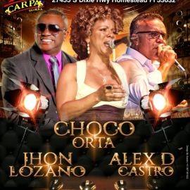Image for ALEX D CASTRO, CHOCO ORTA, JHON LOZANO EN CONCIERTO ! HOMESTEAD FLORIDA