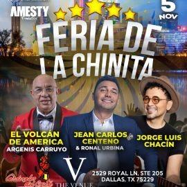 Image for ARGENIS CARRUYO EL VOLCAN DE AMERICA, CARDENALES DEL ÉXITO  JEAN CARLOS CENTENO & RONAL URBINA, JORGE LUIS CHACIN EN CONCIERTO ! FERIA DE LA CHINITA -DALLAS TEXAS