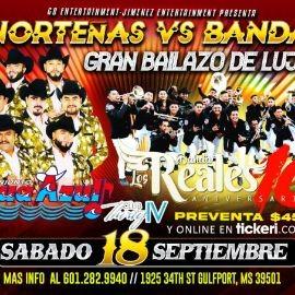 Image for NORTEÑAS VS BANDA - CONJUNTO AGUA AZUL -BANDA LOS REALES - GULFPORT MS