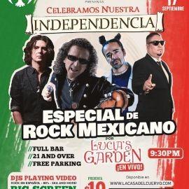 Image for ESPECIAL DE ROCK MEXICANO EN VIVO CON LUCIA'S GARDEN. CELEBRACION DIA DE LA INDEPENDENCIA