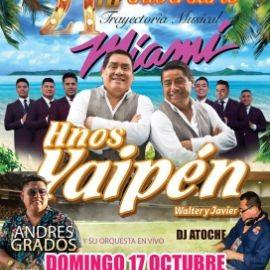 """Image for CONFIRMADO !!!  CELEBRACIÓN DE LOS 21 AÑOS DE TRAYECTORIA MUSICAL DE """"WALTER Y JAVIER LOS HNOS YAIPEN """" !! MIAMI FLORIDA"""