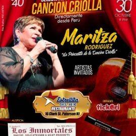 """Image for MARITZA RODRIGUEZ """" LA PRINCESITA DE LA CANCION CRIOLLA """" EN VIVO ! PATERSON NEW JERSEY"""