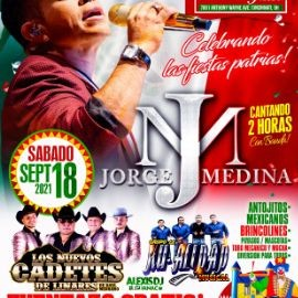 Image for JORGE MEDINA - LOS NUEVOS CADETES DE LINARES - GRUPO LA KU-ALIDAD MUSICAL - CELEBRANDO LAS FIESTAS PATRIAS - CINCINNATI OHIO