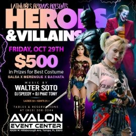 Image for Heroes & Villains Night with Latin Vibes Friday at Avalon Event Center