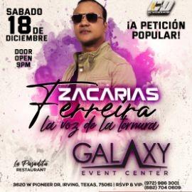 Image for ZACARIAS FERREIRA EN CONCIERTO -LA VOZ DE LA TERNURA - DALLAS TEXAS
